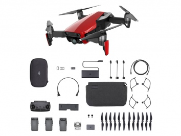 DJI Mavic Air - Fly More Combo drón (Flame Red)