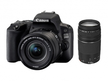 Canon EOS 200D + 18-55 mm + 75-300 mm
